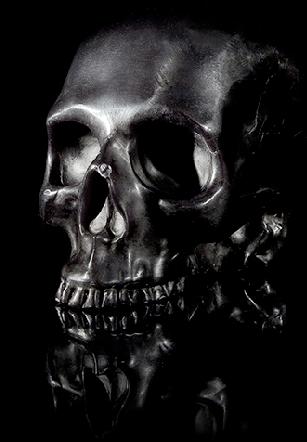 Totenkopfkerze bei Honigmond