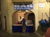 Pop-up-Bar in a garage in Gharb, Gozo